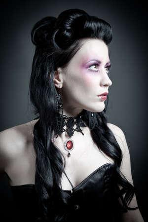 Portrait of a gothic woman