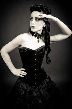 Portrait of a gothic woman photo
