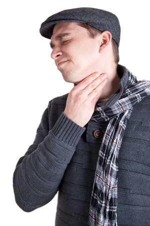 lymph: Man with sore throat