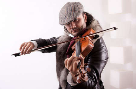 A modern violinist playing