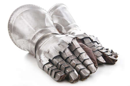 'dark ages': A pair of armored gloves