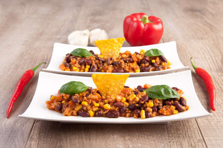 Chili con carne  Chili con soy photo