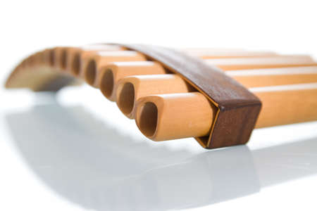 A panpipe  Stock Photo