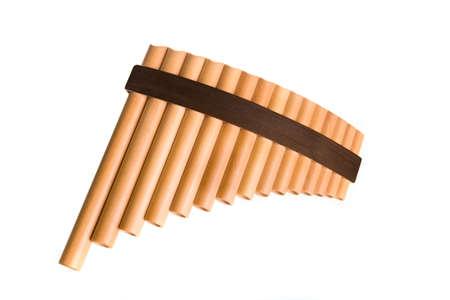 A panpipe  Stock Photo
