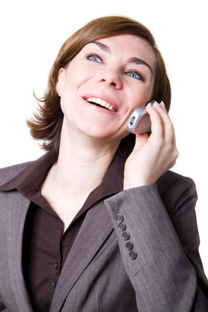 A business woman with mobile phone Stock Photo