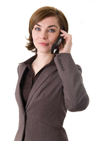 A business woman with mobile phone Stock Photo - 17494984