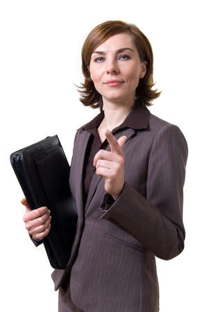 A business woman with a leather case  photo