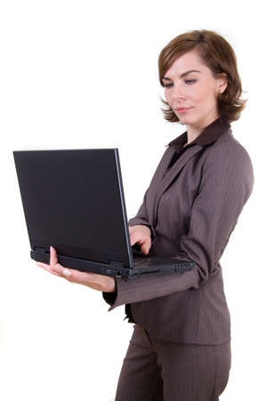 Business woman with notebook Stock Photo - 17494961