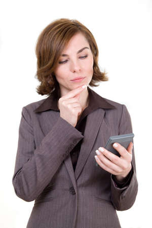 A business woman with calculator Stock Photo - 17494997