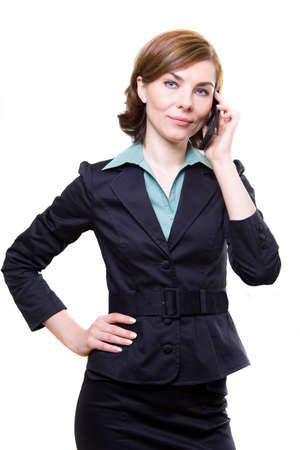 Business woman with mobile phone Stock Photo - 17494957