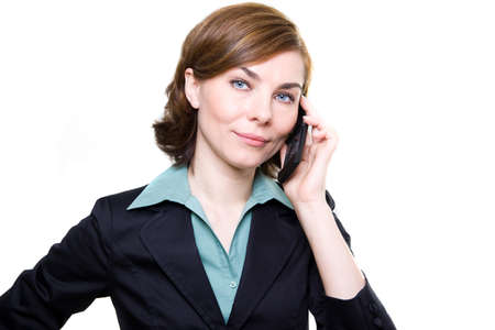 Business woman with mobile phone  Stock Photo - 17494956