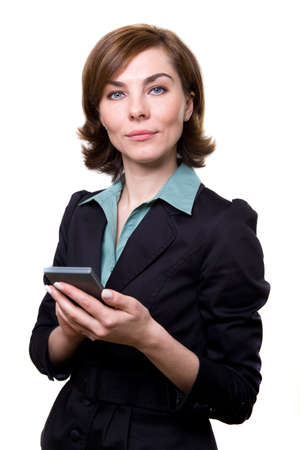 A business woman with calculator  Stock Photo - 17494968