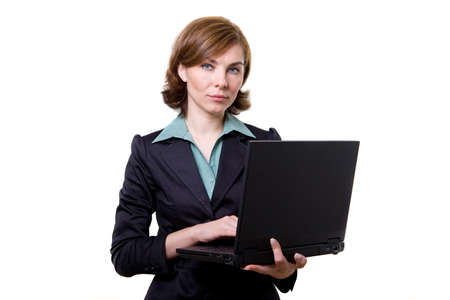 A business woman with notebook Stock Photo - 17494946