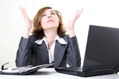 stressed woman: Stress at work