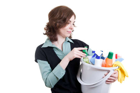 Cleaning woman Stock Photo - 18359381