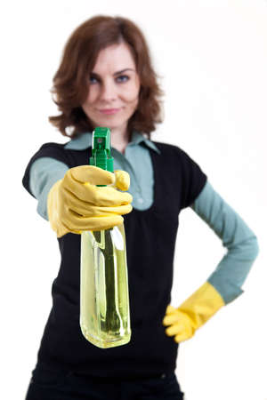 Woman with spray can Stock Photo - 18359393