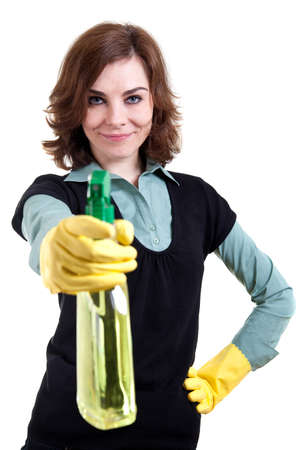 Woman with spray can Stock Photo - 18359400