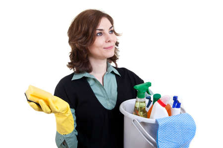 Cleaning woman Stock Photo - 18359385