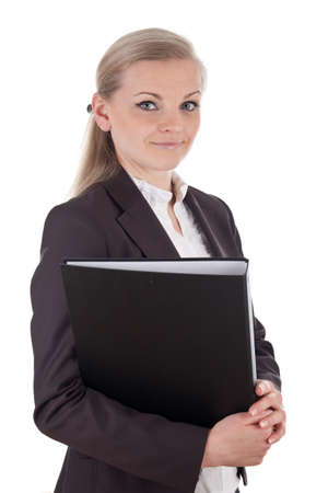 file clerks: Smart business woman with folder