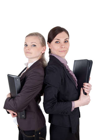 disposer: Attractive business women with folders