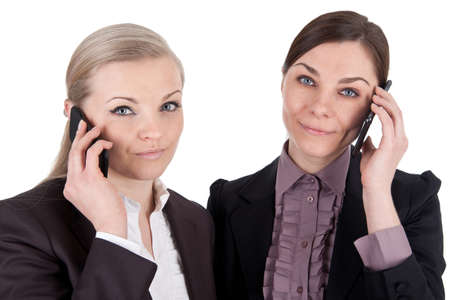 Business women with phones photo