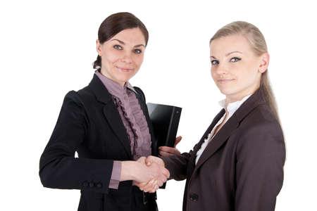 Business women shaking hands photo
