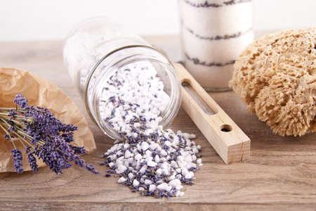 Bath salt with lavender flavour