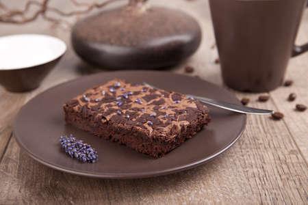 gateau chocolat: G�teau au chocolat  Banque d'images