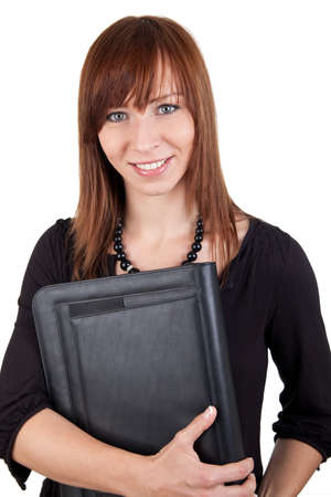 Woman with folder  photo