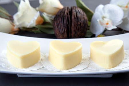 Heart shaped massage butter