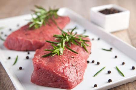 Raw beef Stock Photo