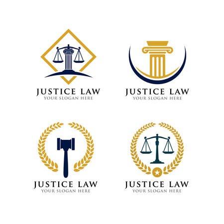 justice law logo design. law firm logo design. attorney logo