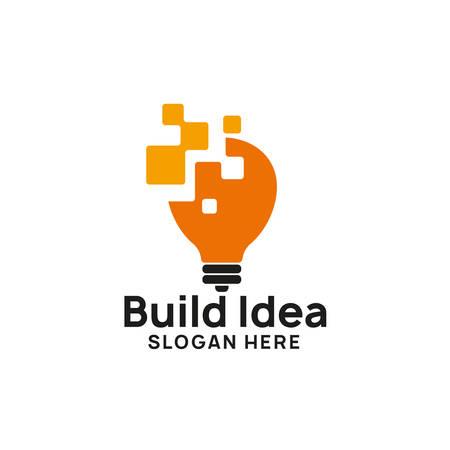 creatief idee logo ontwerpsjabloon. lamp pictogram symbool ontwerpen Logo