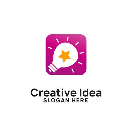 creative idea logo design template. bulb star icon symbol designs Logo