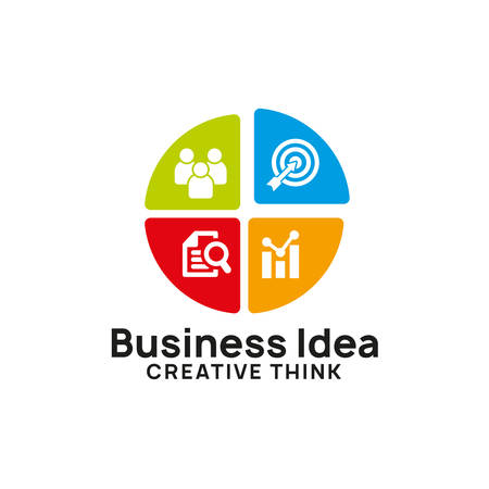 creative business idea logo design template