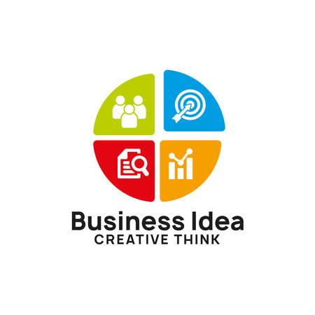 creative business idea logo design template