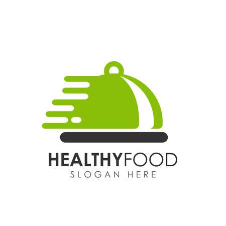 healthy food logo design. food delivery logo
