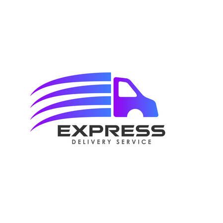 delivery services logo design. cargo logo design template icon vector