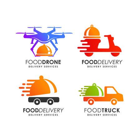 modello di progettazione del logo di consegna del cibo