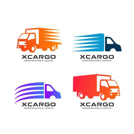 cargo delivery services logo design. delivery truck vector icon design element