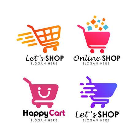 shopping cart logo design template Logó