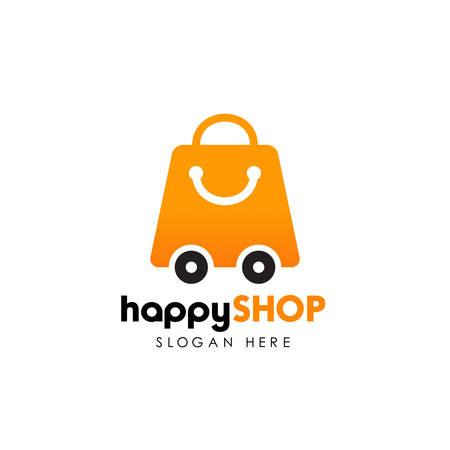 shop delivery logo design template. shopping logo design template