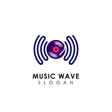 sound wave logo design. music logo icon design