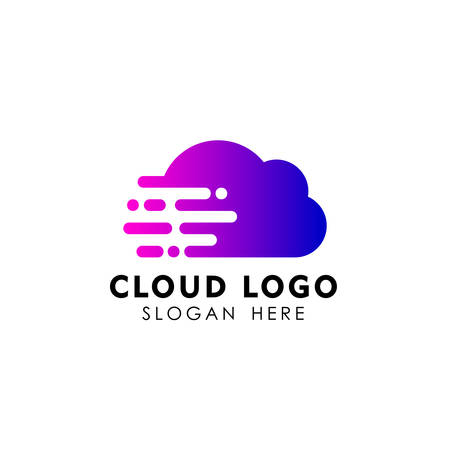 cloud tech logo design. speed cloud logo design Illustration