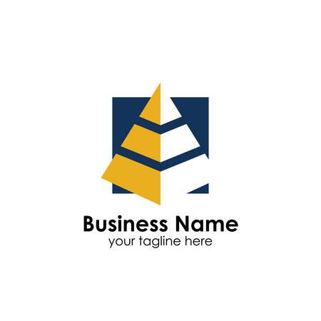 modello di progettazione del logo della piramide aziendale. design del logo di marketing e finanza aziendale Logo