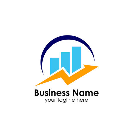 business finance and marketing logo design template
