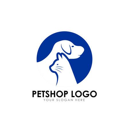 pet shop logo design template. pet home logo design vector icon Ilustração