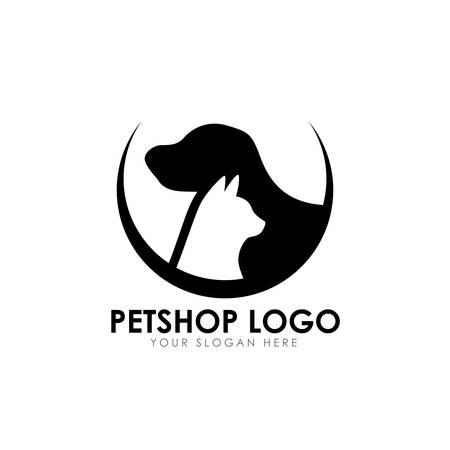 plantilla de diseño de logotipo de tienda de mascotas. icono de vector de diseño de logotipo de casa de mascotas
