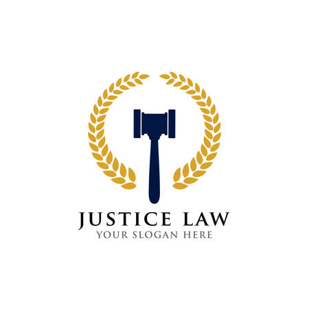 judge hammer vector icon illustration. judge gavel symbol