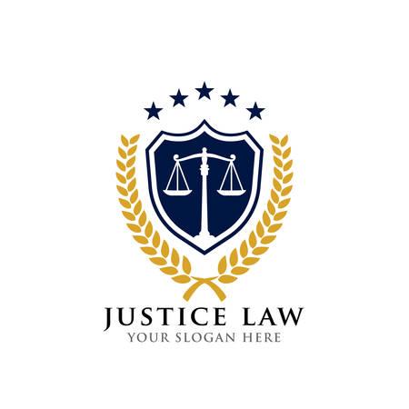 justice law badge logo design template Logo